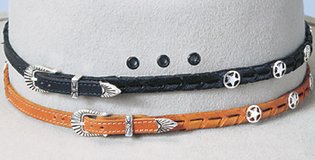 Leather Braid w/Silver