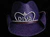 Texas Tiara in Purple w/Diva